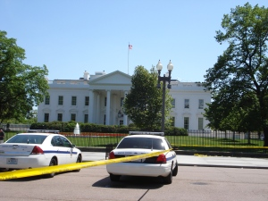 White House and Police Cars