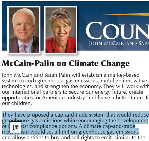 The McCain/Palin position from 08